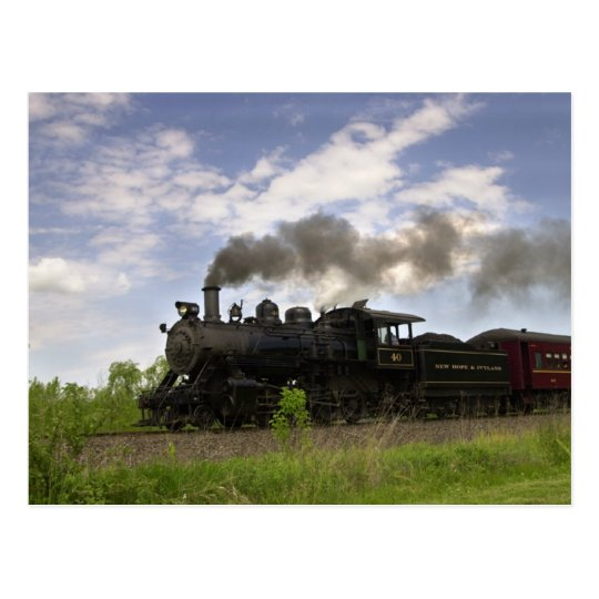 Steam Engine #40 Postcard