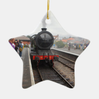 Steam Engine at Sheringham Ceramic Ornament