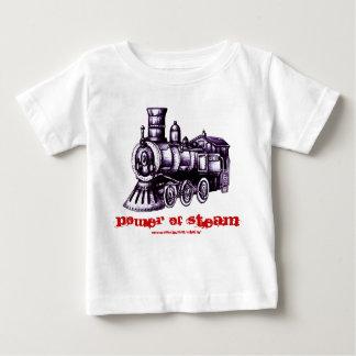 Steam engine baby t-shirt design