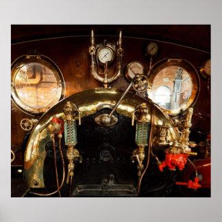 Steam Engine Cab Poster