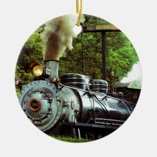 Steam Engine Ceramic Ornament