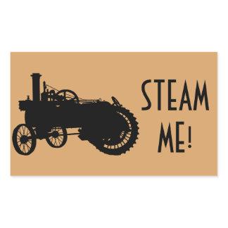 Steam Engine Farm Tractor Traction Farming Antique Rectangular Sticker