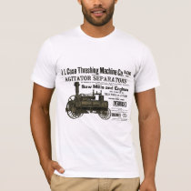 Steam Engine Farm Tractor Traction Farming Antique T-Shirt