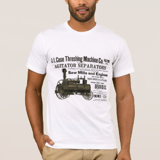 Steam Engine Farm Tractor Traction Farming Antique T-Shirt