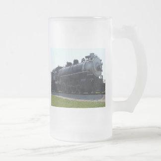 Steam Engine Frosted Glass Beer Mug