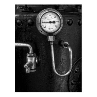 Steam Engine Gauge Postcard
