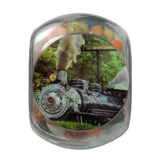 Steam Engine Glass Jars