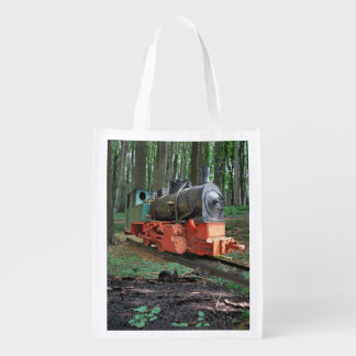 Steam engine grocery bag