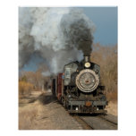Steam Engine in the Sun Poster