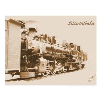 Steam engine in the Zillertal, Tyrol Postcard