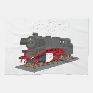 Steam engine kitchen towel