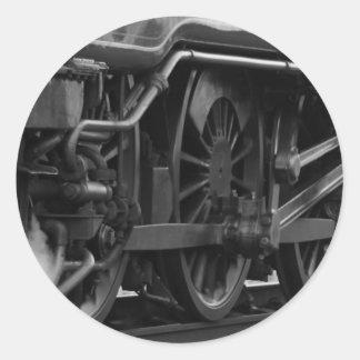 Steam Engine Locomotive Train Gifts Classic Round Sticker