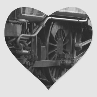 Steam Engine Locomotive Train Gifts Heart Sticker