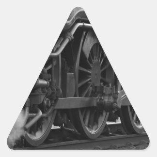 Steam Engine Locomotive Train Gifts Triangle Sticker