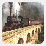 Steam Engine on Trestle Stickers