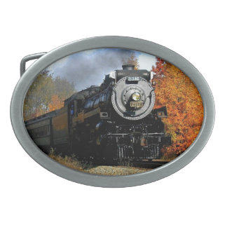 Steam Engine Oval Belt Buckle