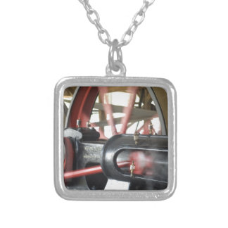 Steam Engine Piston Silver Plated Necklace