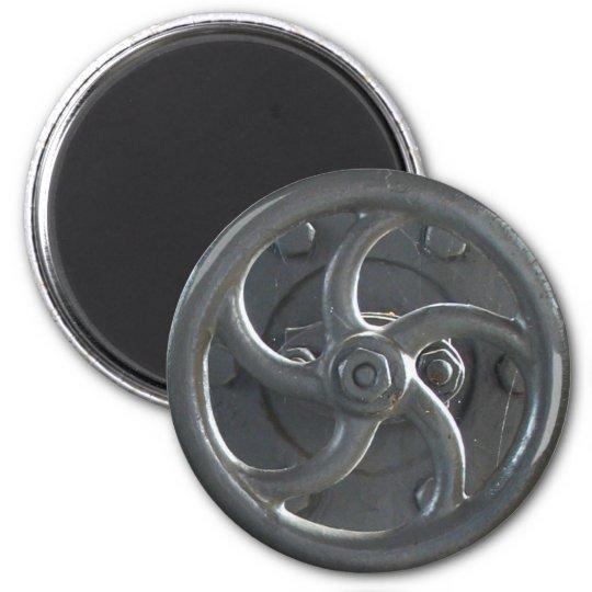 Steam Engine Pressure Wheel Fridge Magnet