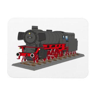Steam engine rectangular photo magnet