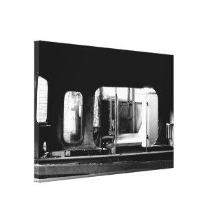 Steam Engine Repair Le Mastrou BlackWhite Canvas