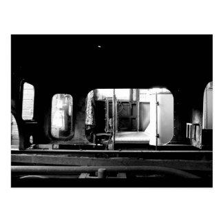 Steam Engine Repair Le Mastrou BlackWhite postcard