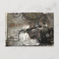 Steam Engine Steampunk RSVP