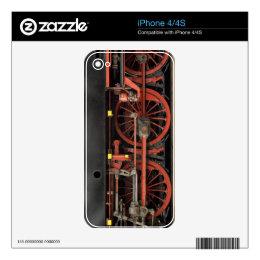Steam Engine Train 01 iPhone 4 Decal