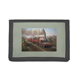 Steam Engine train on a nylon wallet