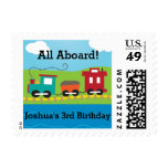 Steam Engine Train Postage Stamps