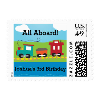 Steam Engine Train Postage Stamps