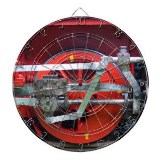 Steam engine wheel dart board