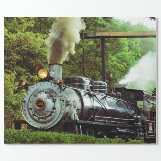 Steam Engine Wrapping Paper