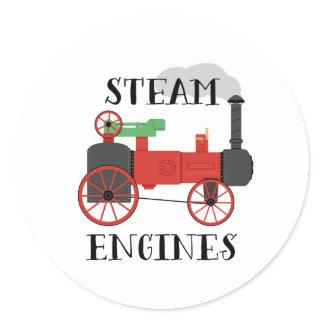 Steam Engines Classic Round Sticker