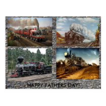 Steam Engines Fathers day card