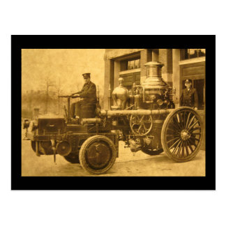 Steam Fire Engine Pumper Truck Vintage Postcard