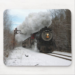 Steam In Winter Mouse Pad