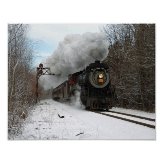 Steam In Winter Poster