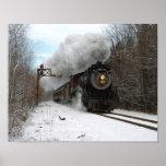 Steam In Winter Print