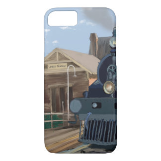 Steam Locomotive at Station iPhone 8/7 Case