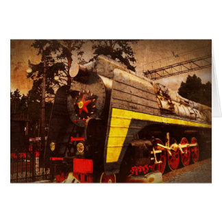 Steam Locomotive at the Kiev Railway Station Stationery Note Card