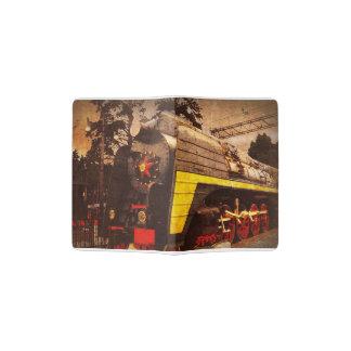 Steam Locomotive at the Kiev Railway Station Passport Holder