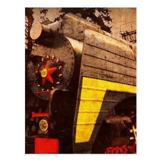 Steam Locomotive at the Kiev Railway Station Postcard
