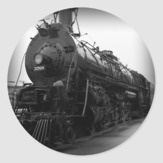 Steam Locomotive Classic Round Sticker