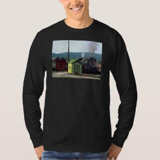 Steam Locomotive Coming into Train Yard T-Shirt