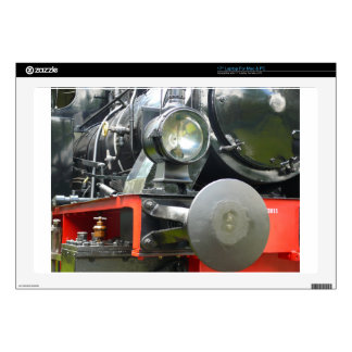 """Steam locomotive detail 17"""" laptop skin"""