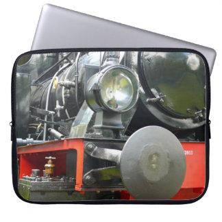 Steam locomotive detail computer sleeve