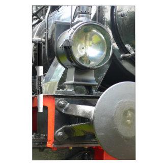 Steam locomotive detail Dry-Erase board