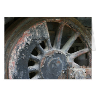 Steam Locomotive Driving Wheel Card