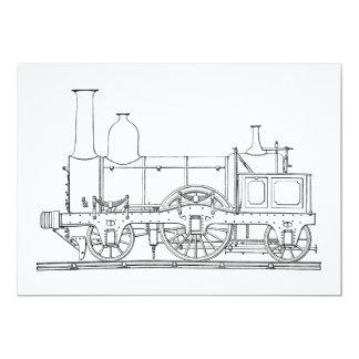 Steam Locomotive Engine Card