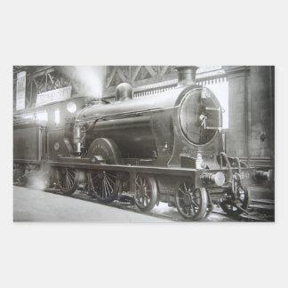 Steam Locomotive (Lady of Avenal) Rectangular Sticker